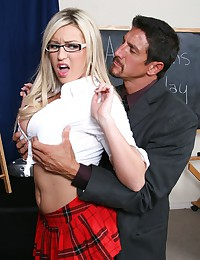 Sexy glasses on a fuck slut