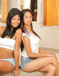 Karla Spice - Two irresistible Latin teens take shower