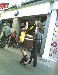 Cute teenie emo upskirted. Voyeur upskirt in public