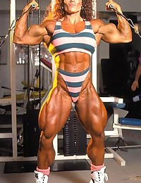 Female bodybuilders, muscular women.