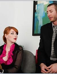 Elegant Redhead Minx Rides Fat Dick