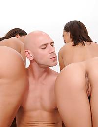 Sluts with big asses treat him