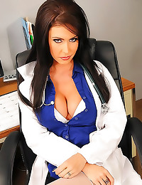 Horny doctor lady fucked in p...