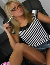 Nikkis Playmates - Office chick in glasses looks delectable