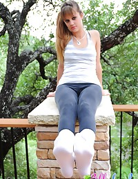 Lilly Luck - Lovely young foxy with a great body getting playful in public park