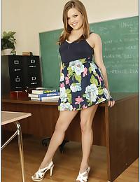 Teen pornstar in classroom