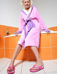 18yo teen Pinky June relaxing and cumming while she takes bath