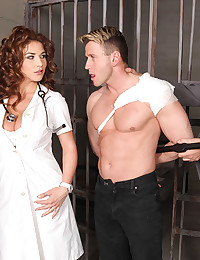 Naughty Nurse Roberta Enjoys Fat Dick