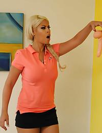 Two Naughty Lesbians Enjoy Big Dildos