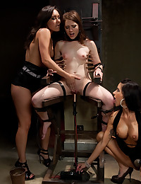Sub girl with two mistresses