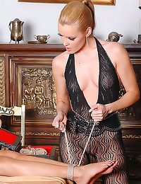 Girl in body stocking is hot