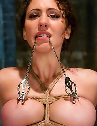 Face fucking and hot bondage