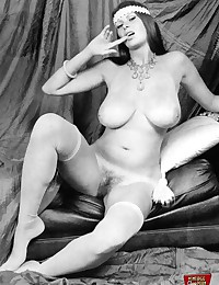 Several big boobed sixties ladies showing it