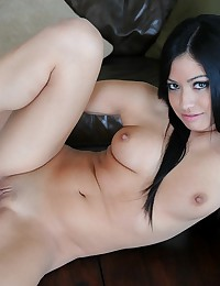 Cierra Spice - The beautiful girl enjoys a dildo in her Latina pussy