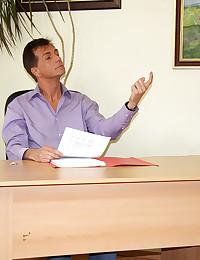 A boss nailing his horny willing teenage secretary hardcore