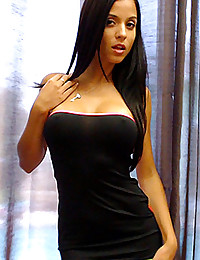 Tiny dress on hot Brazilian