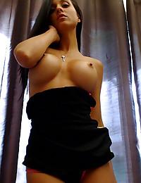 Tiny dress on hot Brazilian