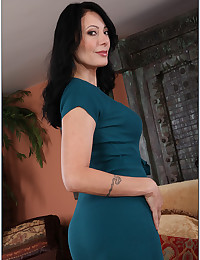 Hot milf in a tight dress