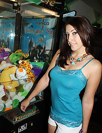 Abby Lane Fucking On The Arcade