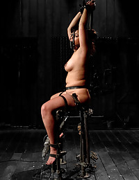 Bound girl in pain