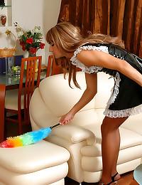 Sissy French maid strapon fuc...