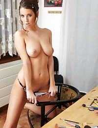 Lizzie Ryan strips in her office!