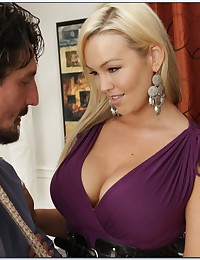 Busty babe meets the big cock