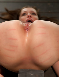 Up and coming bondage whole made to cum and squirt with caning and whipping. Curvy Audrey endures hard canings and lots of whipping for her orgasms.