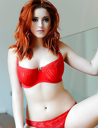 Redhead with the best big tit...