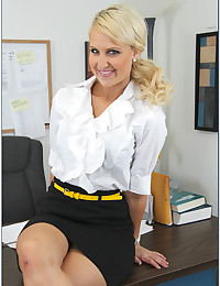Sexy office blonde