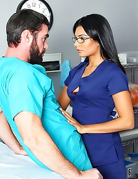 Stockings nurse fucked by doc...