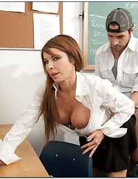 Horny Cougar Teaches Sexy Lesson
