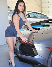 Do you want this babe to wash your car?