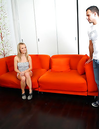 Blonde in tight dress sex