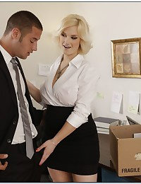 Naughty office girl laid