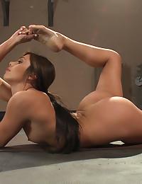 Flexible toy loving girl
