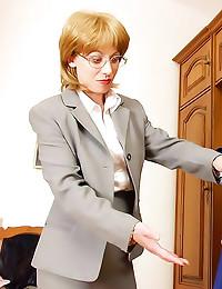 Lesbian strapon with mature teacher