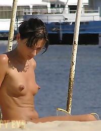 random nude beach pics