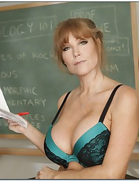 Teacher and her sexy striptease