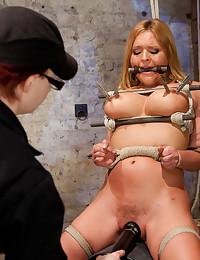 Big tits cutie loves bondage