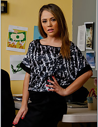 Horny Office Babe Kristina Gets Ravaged