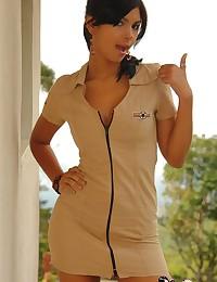 Karla Spice - Hot latina army babe in very slutty short dress