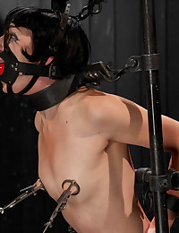 Brunette Minx Gets Gagged And Bound
