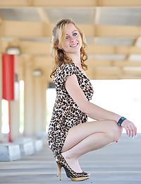 Striptease in the parking lot