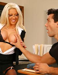 Blonde teacher hardcore sex