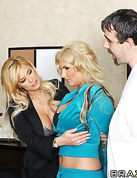 In this thrilling conclusion to the PSYCHO MILF trilogy, we learn that the Veronica-Johnny saga was merely a figment of Mark's imagination. Mark is a patient being treated by Dr. Shyla, a sexually domineering psychologist who's more interested in jumping