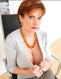 Sweater on busty milf