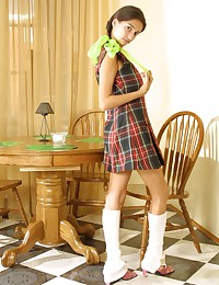 Felicity Fey - Innocent looking teen in very hot plaided dress