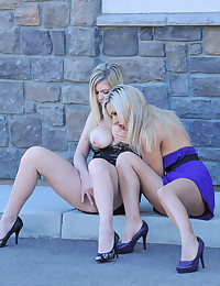 Two young shameless lezzies w...
