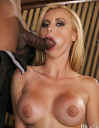 Perfect Blonde Goddess Enjoys Black Cock